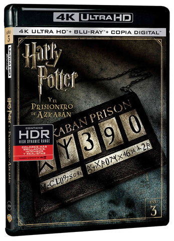 Harry Potter Y El Prisionero De Azkaban  Blu-Ray Uhd