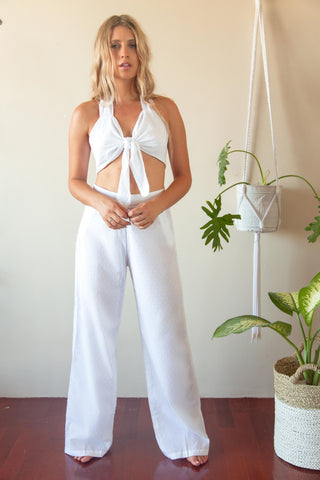 COCONUT BRALET WHITE DOT