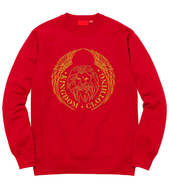 Kingdom Logo Crewneck in Red