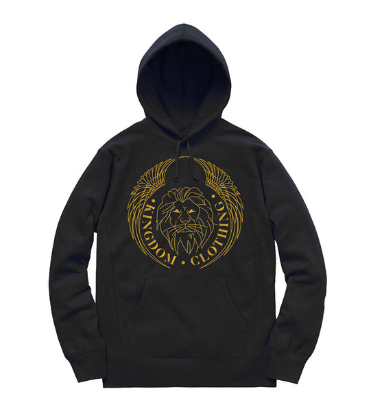 Kingdom Logo Hoodie in Black