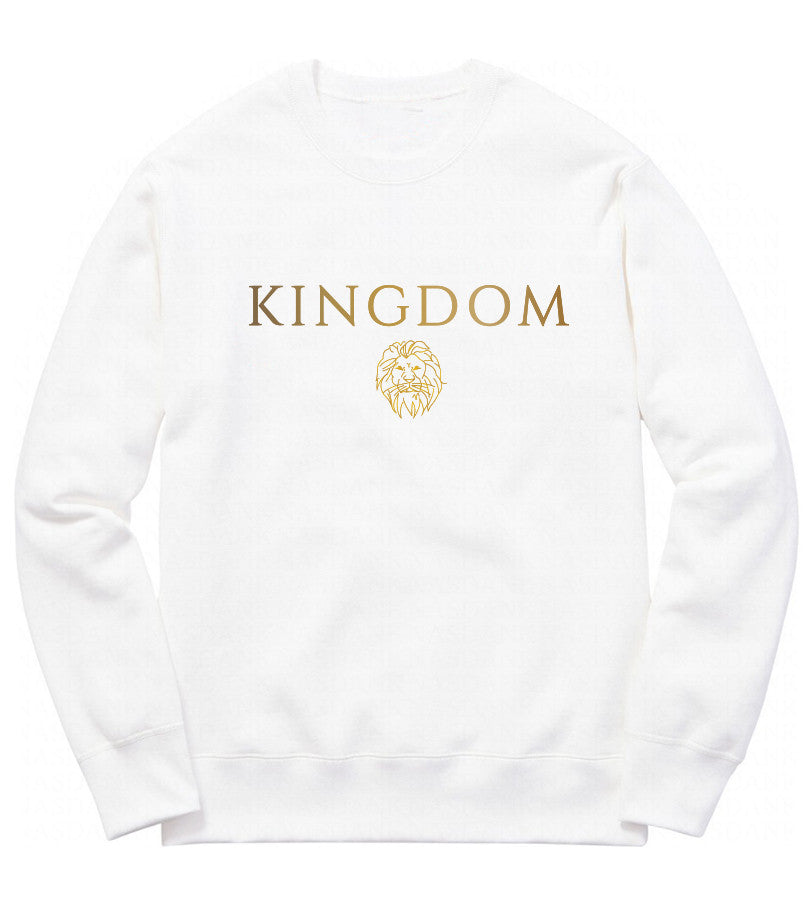The Lion Crewneck in White