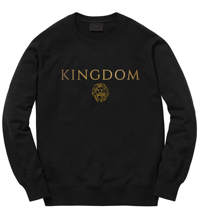 The Lion Crewneck in Black