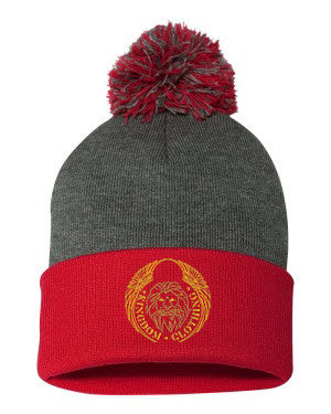 Kingdom Logo Pom Pom Knit Cap