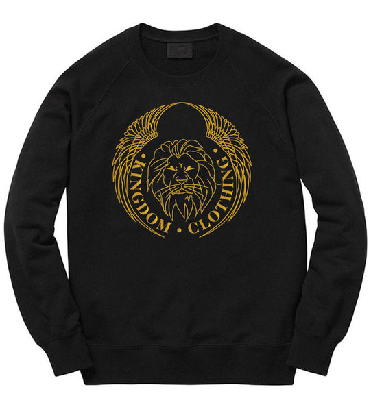 Kingdom Logo Crewneck in Black
