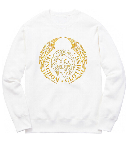 Kingdom Logo Crewneck in White