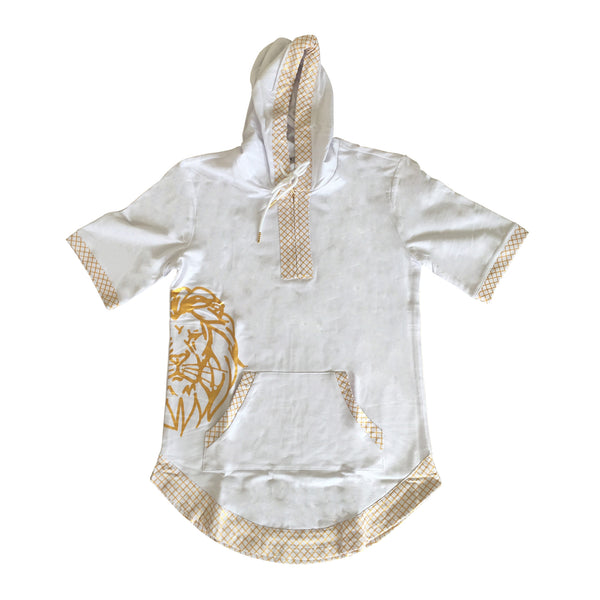 Short Sleeve Judah Hoodie in White