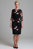 L 1015 Embroidered Rose Dress