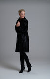 L 1048 Black Pony Skin Coat