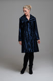 L 1048 Navy Pony Skin Coat