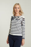 L 1062 Nautical Striped Knit Top