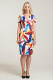 L 1076 Feather Print Dress