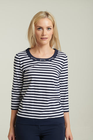 1099 Navy Nautical Top