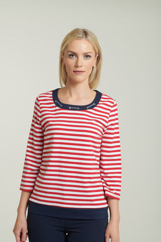 1099 Red Nautical Top