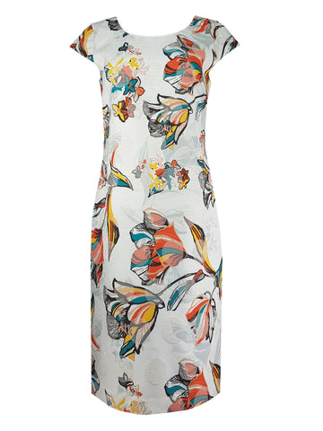 L 1116 Floral Shift Dress