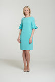L 1131 Mint Frilled Sleeve Dress
