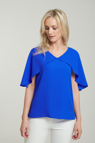 L 1132 Blue Cape Top