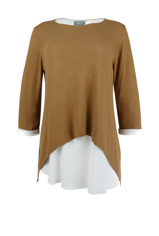 1157 Camel Overlay Top