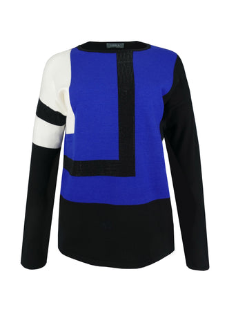 1198 Colour Block Jumper