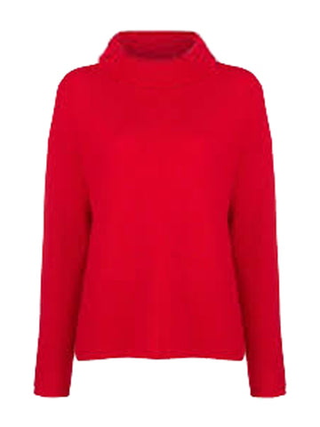 1233 Red Roll Neck Jumper