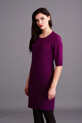 LD 311 Blackberry Zip Dress