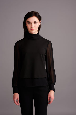LT 315 Black Puff Sleeved Top