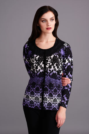 LTP433 Purple Printed Libra Twinset