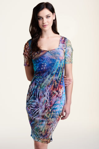 L552 Colourful Mesh Dress