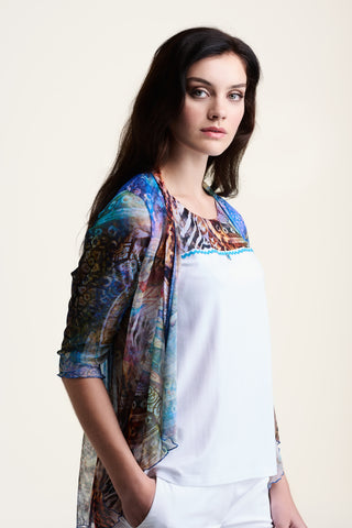 L554 Colourful Mesh Top and Jacket
