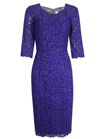 L 664 Purple Lace Dress