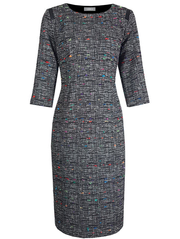 L 688 Multi Fleck Tweed Dress