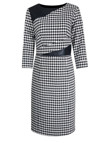 L 728 Houndstooth Dress