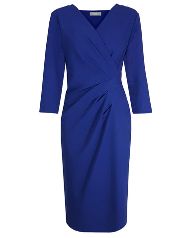 L 740 Blue Crossover Dress