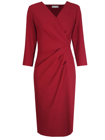 L 740 Red Crossover Dress