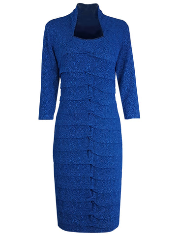 L 757 Blue Bandage Dress