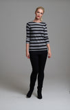 965 Black and Grey Stripe Jumper