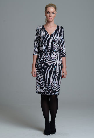 967 Animal Print Wrap Dress