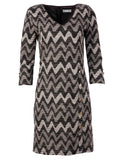 978 Grey Zig-Zag Dress