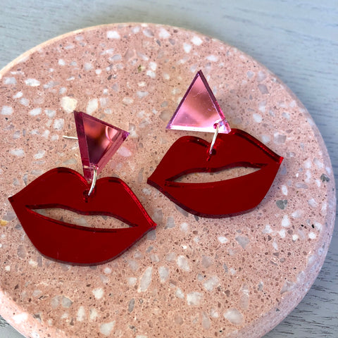 Red & Pink Mirror Lips