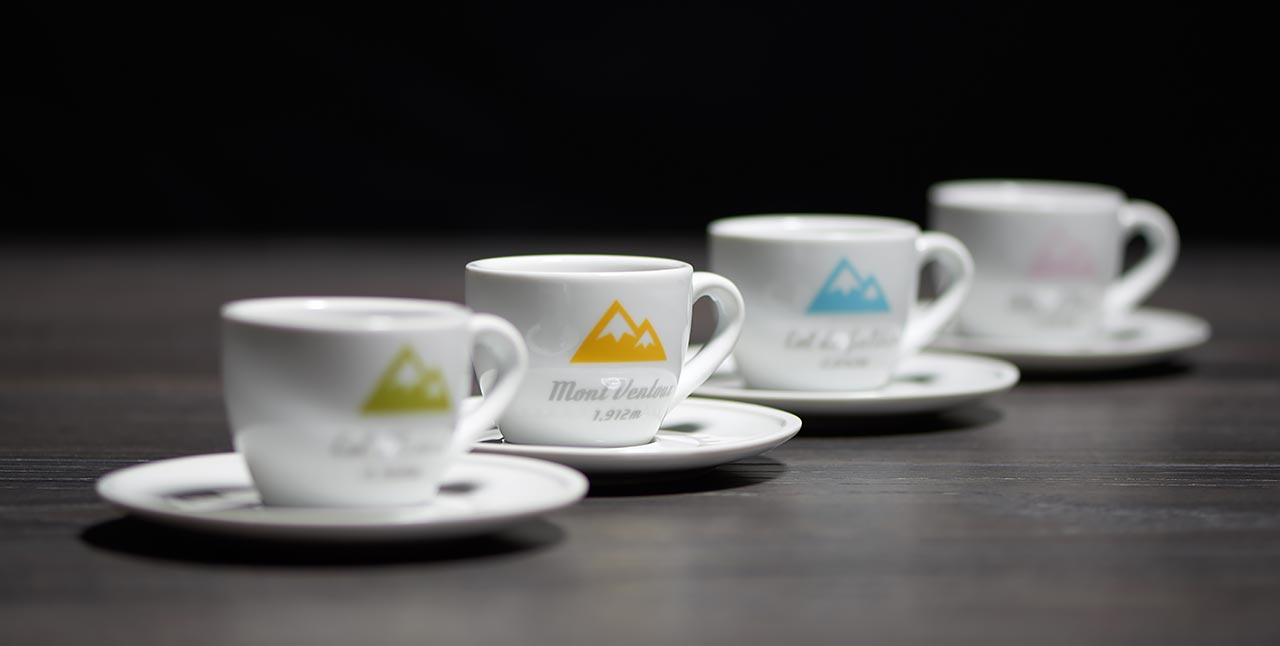 Drink your espresso from a SpeedyShark stylish cup and saucer collection