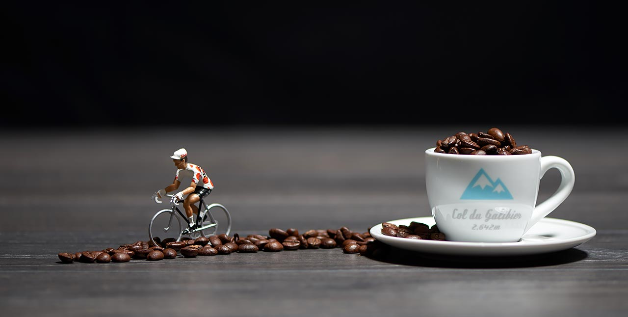 SpeedyShark celebrates the mysterious and historic connection between cycling and coffee