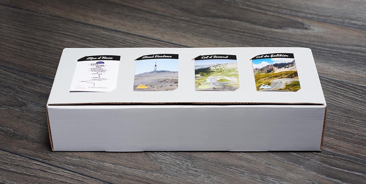 SpeedyShark collectible mountain description cards