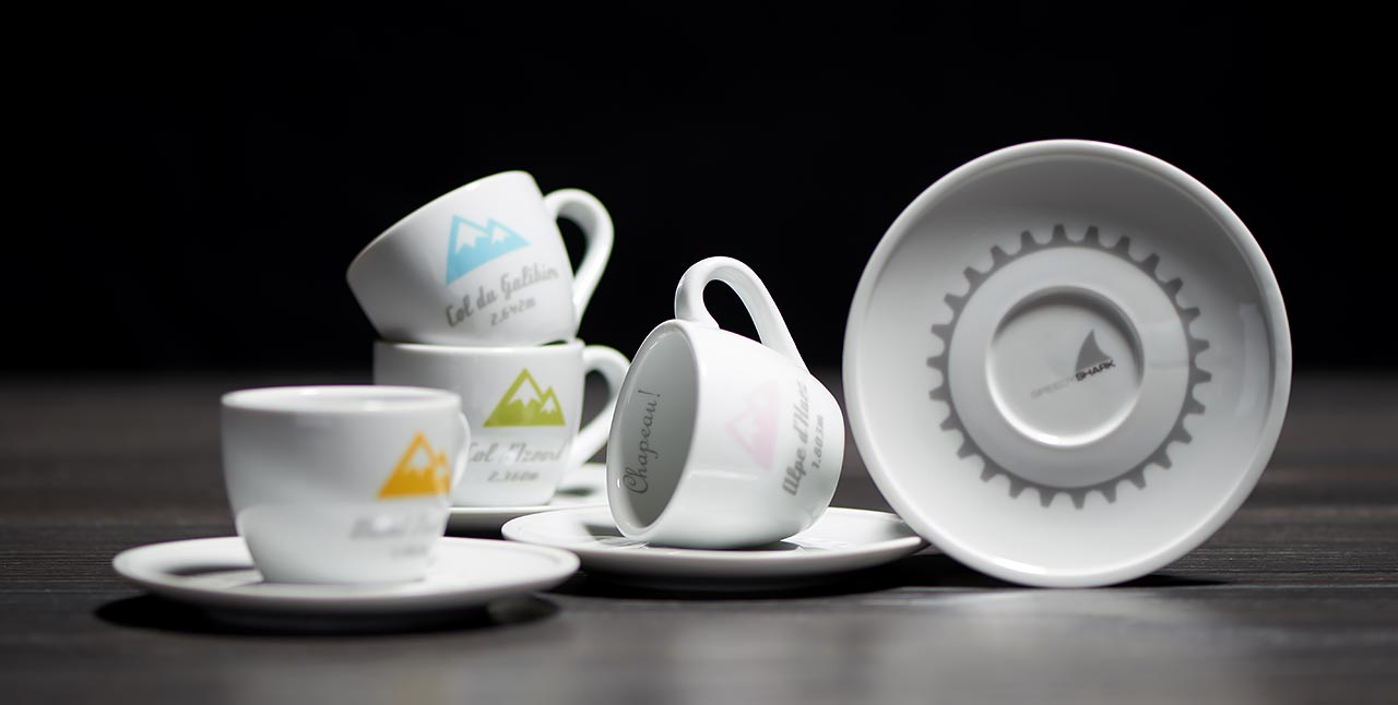 French Alps Espresso Collection Series 1 Cups and Saucers