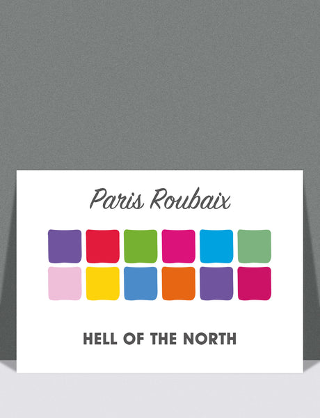 "Paris-Roubaix ""Hell of the North"" Print by SpeedyShark"