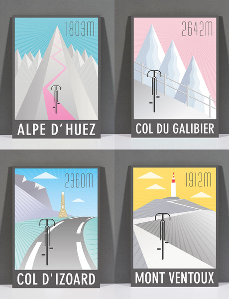 SpeedyShark The Alps Print Collection Art Deco Featuring Four Prints