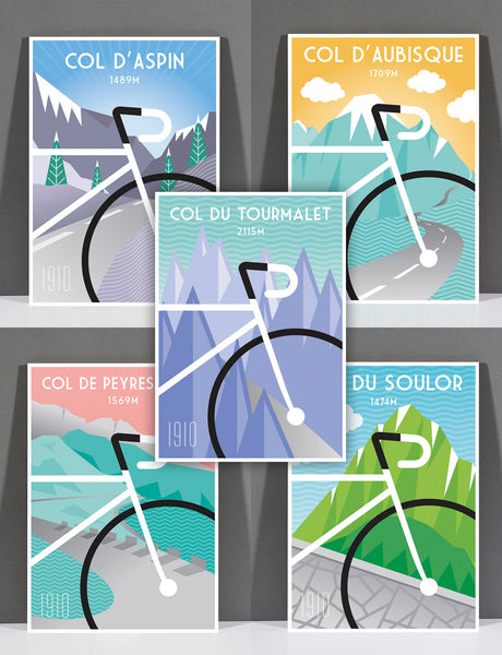 SpeedyShark The Pyrenees Print Collection Art Deco Featuring Five Prints