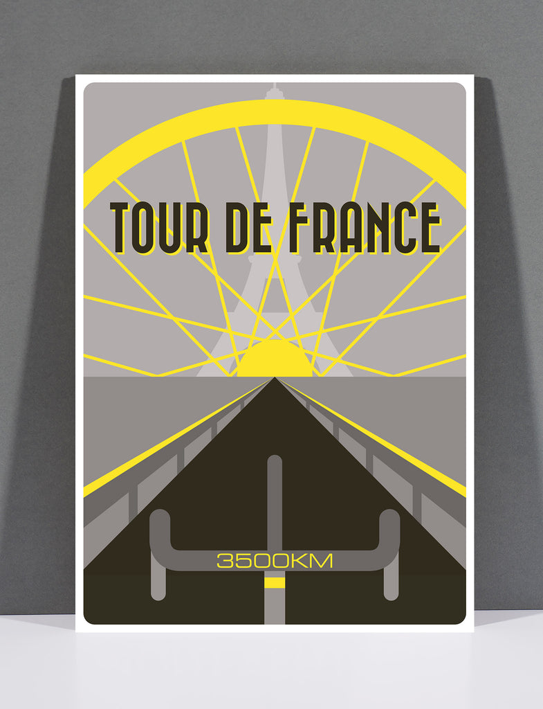 SpeedyShark Tour de France Art Deco Print