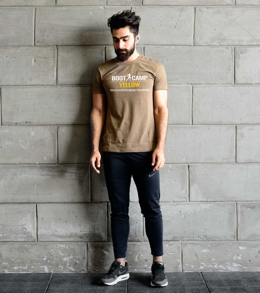 Boot camp Yellow T-shirt (Men's Olive) - wodarmour