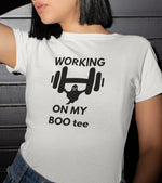 "Women's ""WORKING ON MY"" T-Shirt - wodarmour"