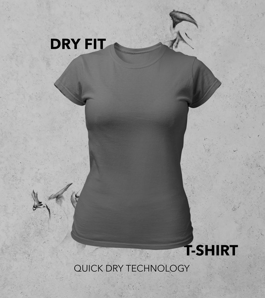 Women's Dry Fit T-shirt (Grey)