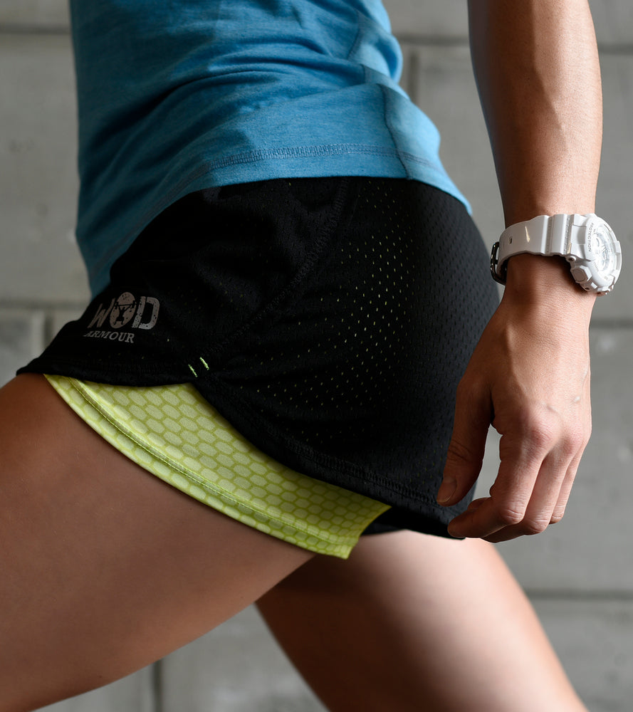 Women's Running & Yoga shorts with compression